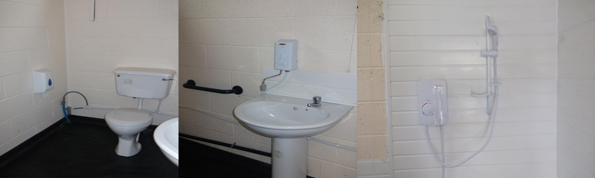 Shower and toilet facilities