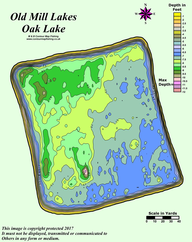 Oak Contour Map